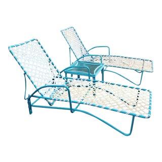Brown Jordan Lido Chaise Lounge Set - 3 Pieces For Sale