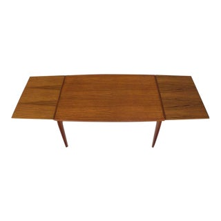 Danish Modern Rectangular Boat Shape Refectory Dining Table For Sale