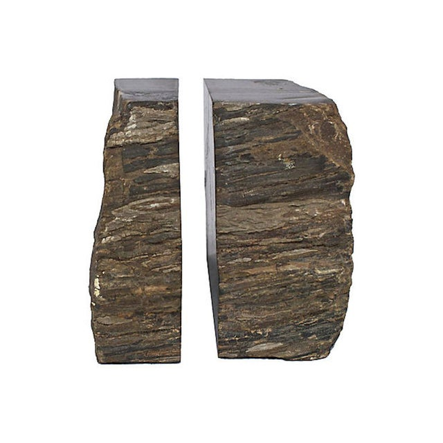 Wood Vintage Petrified Wood Bookends For Sale - Image 7 of 10
