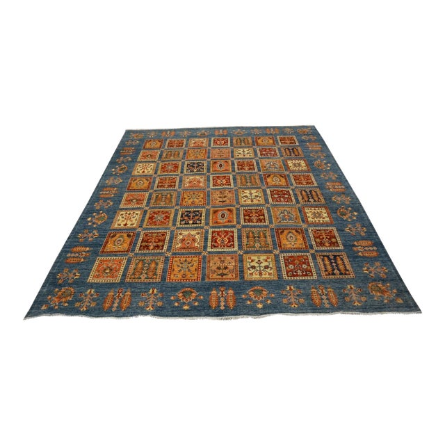 Hand Knotted Persian Bakhtiari Wool Rug - 8′5″ × 9′9″ For Sale