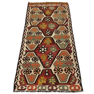 Authentic Vintage Turkish Mut Kilim | 3 X 6'2 For Sale