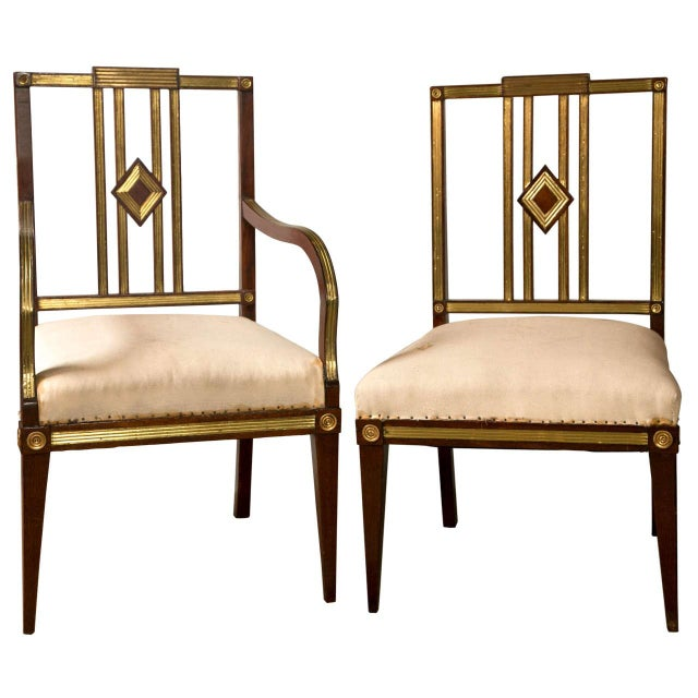 Russian Neoclassical Dining Chairs - Set of 11 For Sale