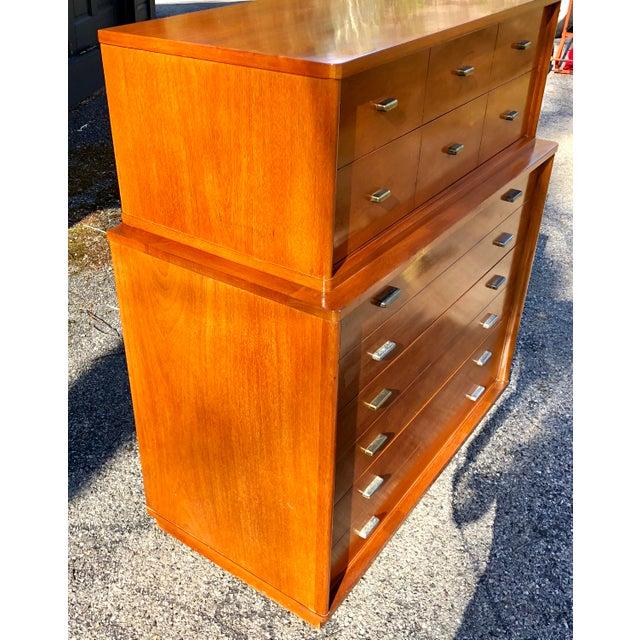 1960s 1960s Mid Century Modern Drexel Mahogany High Boy Dresser For Sale - Image 5 of 10