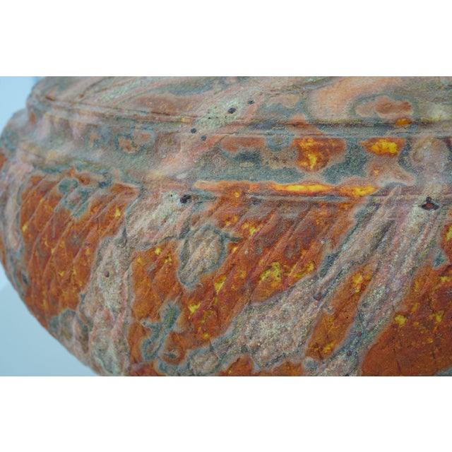 Vintage Peter Andersson Australia Glazed Earthenware Artisan Pot or Vase With Papers from a Palm Beach estate. Stunning...