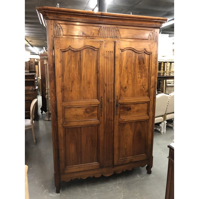 19th Century Louis XV Provincial Walnut Armoire For Sale - Image 9 of 9