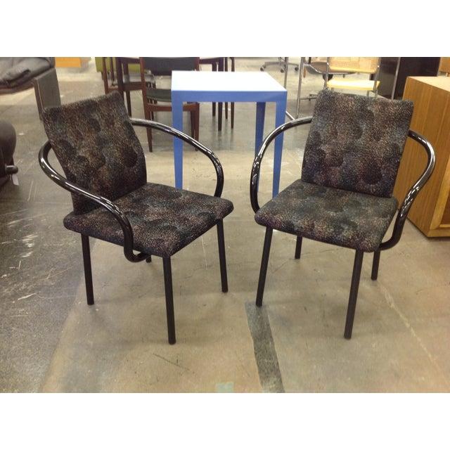 Knoll Ettore Sottsass Mandarin Chairs - A Pair - Image 2 of 9