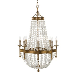 Frosted Crystal Bead Chandelier For Sale