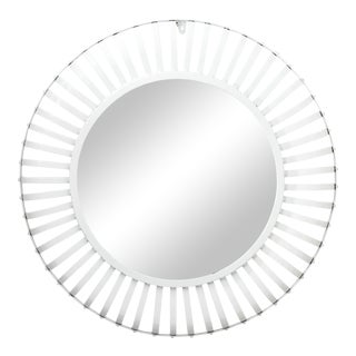 Round White Powder Coated Mirror For Sale