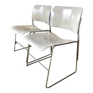 David Rowland Vintage Chrome 40/4 Dining Chairs - A Pair