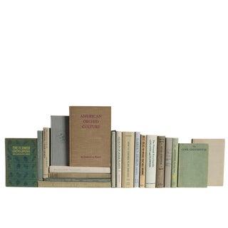 Vintage Wheat & Sage Gardening Book Set, S/20 For Sale