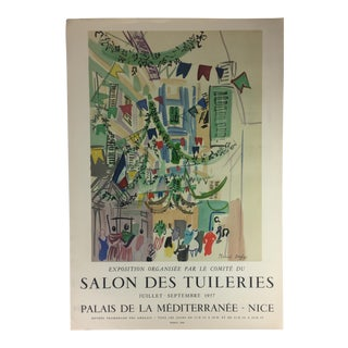 Mid Century Original Raoul Dufy Mourlot Art Poster For Sale