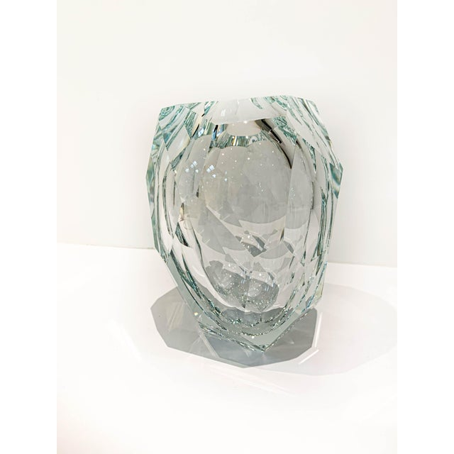 2010s Clear Crystal Mipreshus Vase by Orfeo Quagliata For Sale - Image 5 of 11