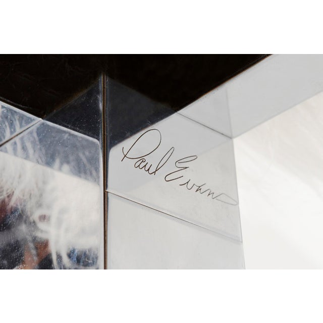 Animal Skin Paul Evans Floating Cityscape Shelf + Stool For Sale - Image 7 of 10