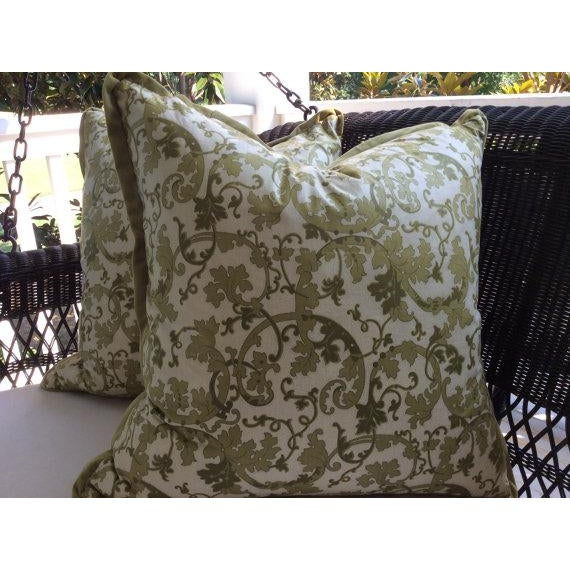 So elegant! Featured is a pair of pillow covers from famed English design house GP and J Baker. The soft chintz fabric is...