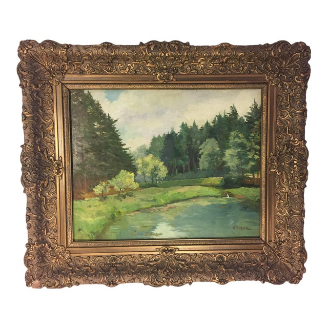 European Landscape Oil Painting on Board - Image 1 of 3