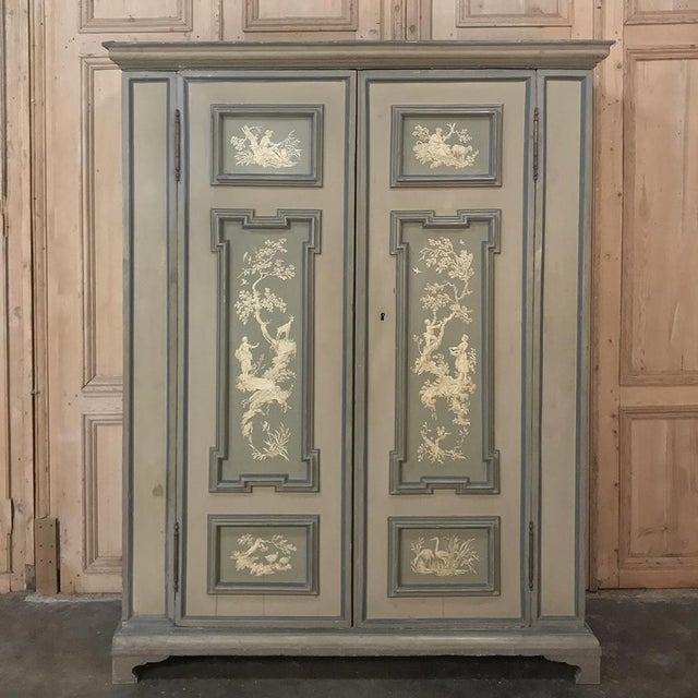 Early 19th Century Italian Neoclassical Painted Armoire For Sale - Image 13 of 13