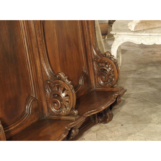 19th Century Sculpted Oak Stall from a Private Chapel in Liege, Belgium For Sale - Image 9 of 11