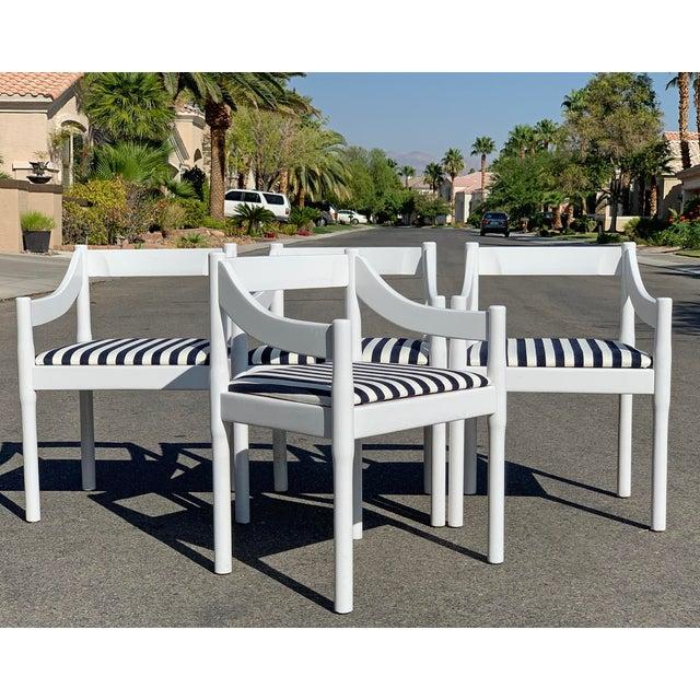 Vico Magistretti Vico Magistretti Carimate Chairs, Set of 4 For Sale - Image 4 of 7