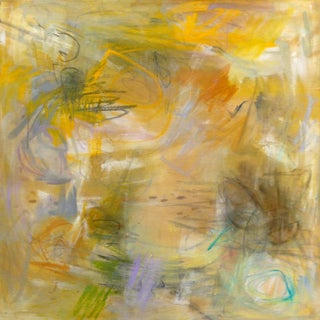"""""""Sunflowers"""" by Trixie Pitts Abstract Expressionist Oil Painting For Sale"""
