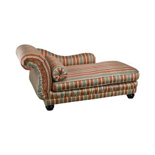 Century Custom Upholstered Recamier Chaise Lounge For Sale