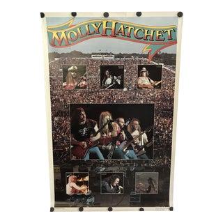 1980 Molly Hatchet Concert Poster a Bi-Rite Enterprise Licensee Chicago Illinois For Sale