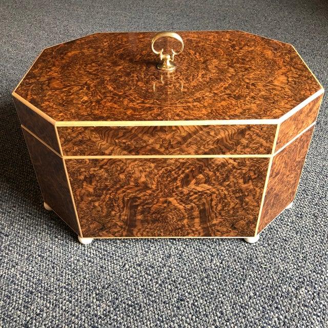 Burled Walnut & Sycamore Box - Image 5 of 7