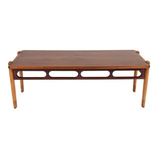 Danish Teak and Rosewood Coffee Table For Sale