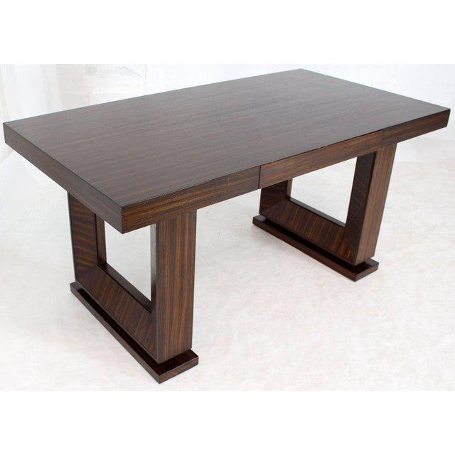 Square Frame Legs Rosewood Mid-Century Modern Writing Table Desk For Sale - Image 4 of 9