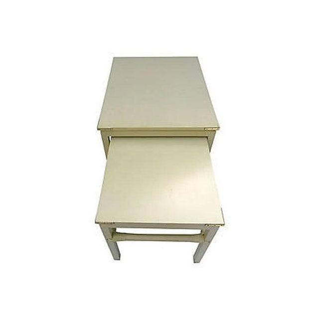 1990s 90's Modern Style Costume Made for Interior Designer Nesting Tables S (2) For Sale - Image 5 of 6