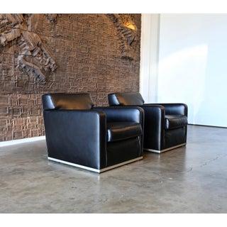 "Antonio Citterio "" Apta "" Leather Lounge Chairs for Maxalto B&b Italia- A Pair Preview"