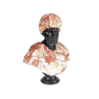 1920s Vintage Large Marble Decorative Bust For Sale