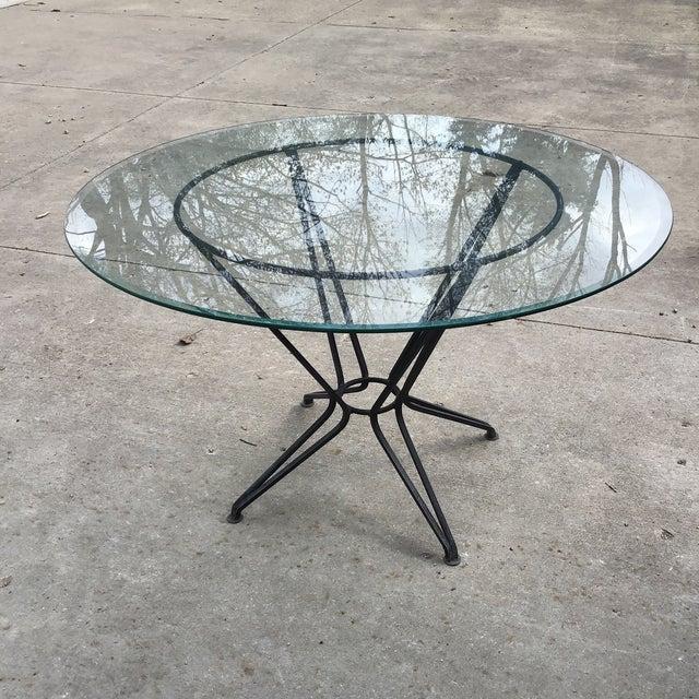 20th Century Salterini Tempestini Wrought Iron Dining Patio Table Last Call For Sale - Image 9 of 9
