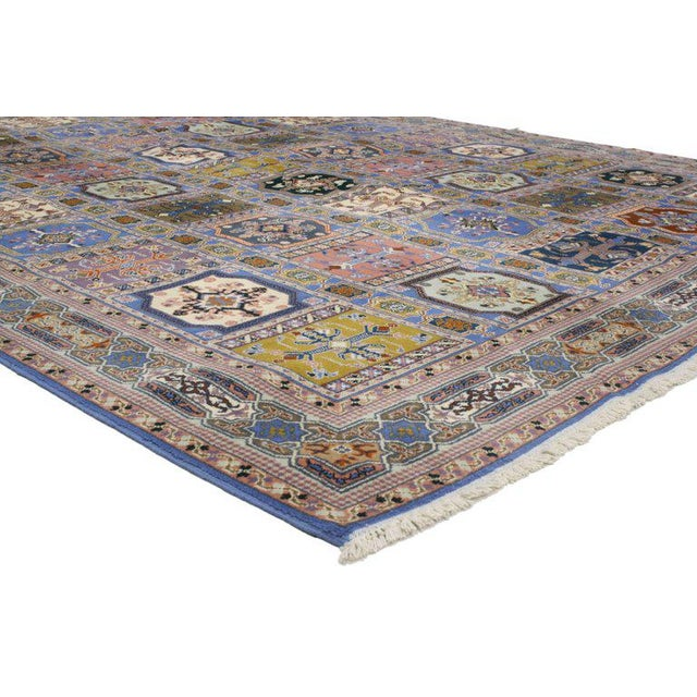 Textile Rabat Moroccan Rug With Compartment Design - For Sale - Image 7 of 9