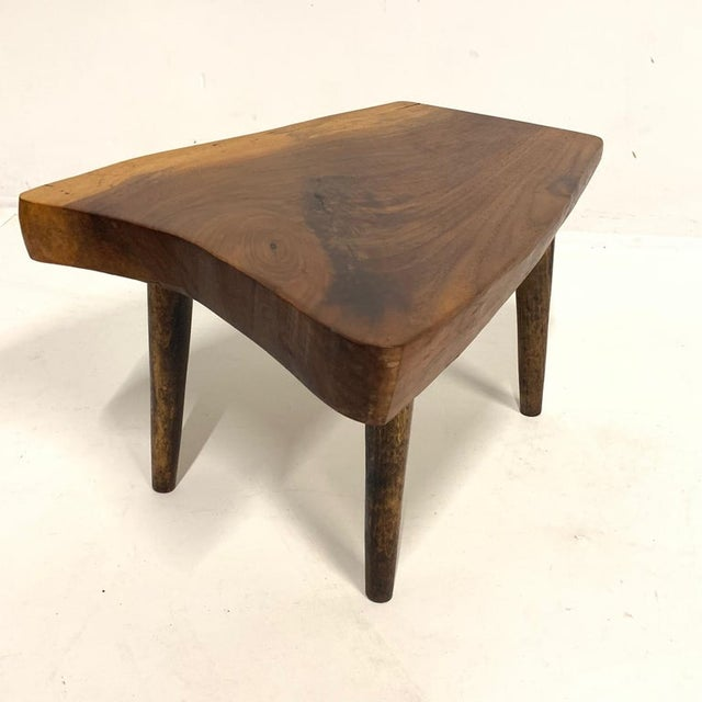 Studio Craft Walnut Live Edge Roy Sheldon Tables Signed - Set of 3 For Sale - Image 10 of 13