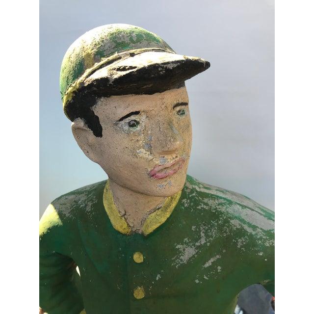 Concrete Lawn Jockey Statue For Sale - Image 4 of 8