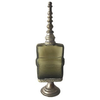 Vintage Moroccan Glass / Silver, Perfume / Rose Water Bottle For Sale