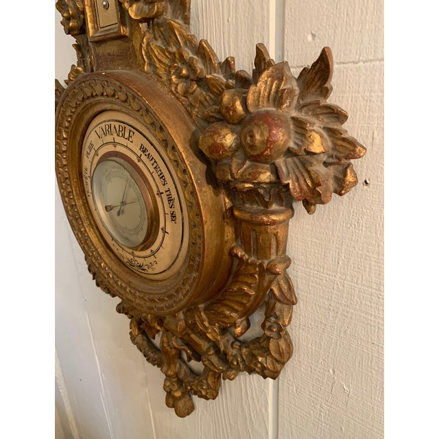 Wood Splendid Ornate Giltwood, Late 18th Century Barometer For Sale - Image 7 of 11