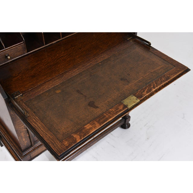 19th Century Jacobean-style Drop-Front Desk For Sale - Image 5 of 10