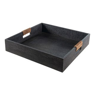 Logia Square Tray Large in Grey For Sale