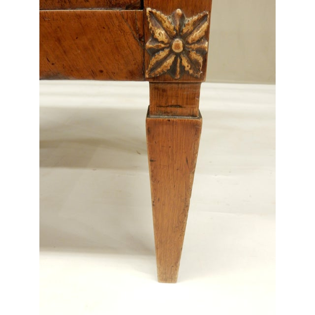 Metal Early 19th Century Small Italian Walnut Commde For Sale - Image 7 of 11