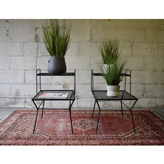 Mid Century Modern Iron Plant Stands / End Tables Preview