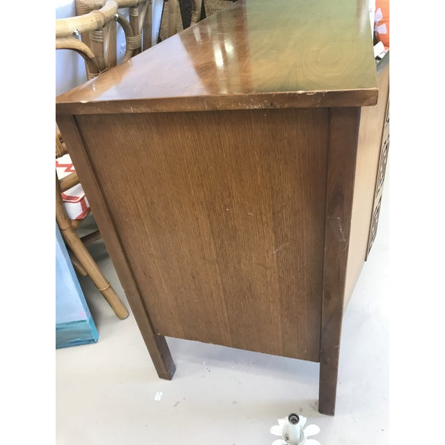 Dixie Mid-Century Greek Key Details Buffet For Sale - Image 6 of 7