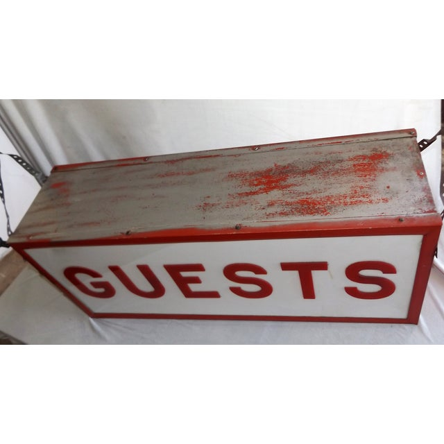 """Vintage Double-Sided Lit """"Guests"""" Sign - Image 7 of 10"""