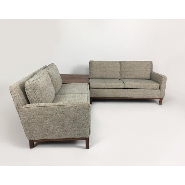 Danish Modern Henredon Sectional Sofa With Corner Storage Case For Sale - Image 3 of 9