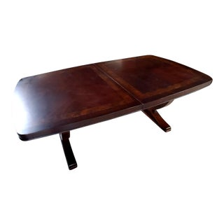 Thomasville Furniture Spellbound Sable Mahogany Double Pedestal Dining Table For Sale