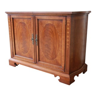 Drexel Heritage Inlaid Mahogany Buffet Server For Sale