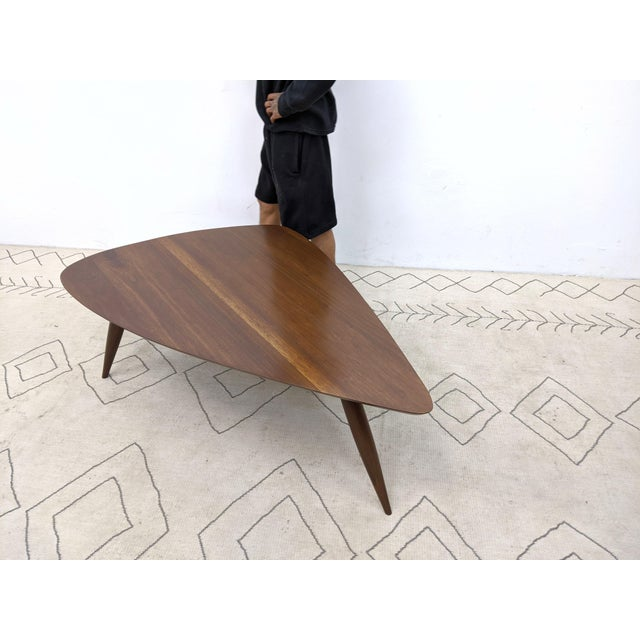 Mid-Century Modern 1960s Mid Century Walnut Cocktail Table For Sale - Image 3 of 9