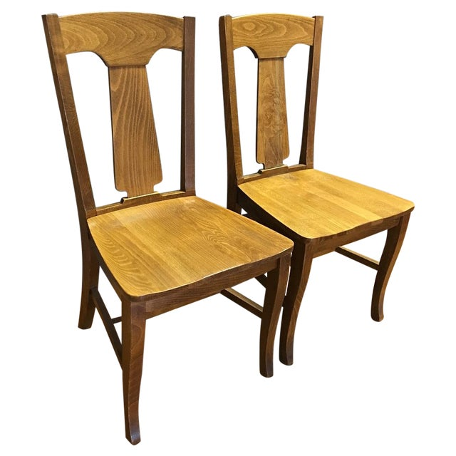 Pottery Barn Loren Dining Chairs - A Pair - Image 1 of 5