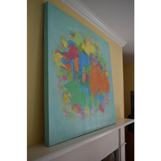 """Stephen Remick Modern """"Bouquet- Out of Many, One"""" Abstract Painting by Stephen Remick For Sale - Image 4 of 13"""