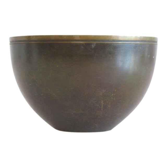 1940s Modern Just Andersen Bronze Bowl For Sale In Tampa - Image 6 of 6